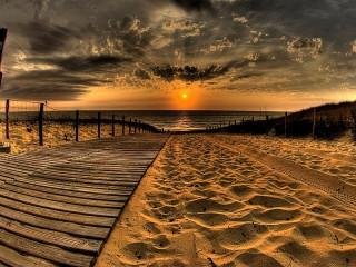 Собирать пазл Sunset puzzle онлайн