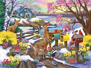 Собирать пазл The smell of spring онлайн