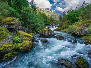 Собирать пазл Norway nature reserve онлайн