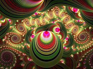 Собирать пазл Green fractal онлайн