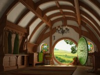Собирать пазл Home of the hobbit онлайн