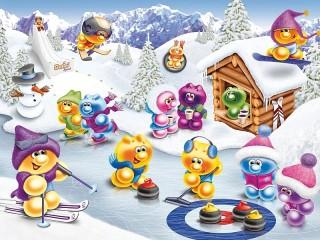 Собирать пазл Life of Gelini - winter fun онлайн