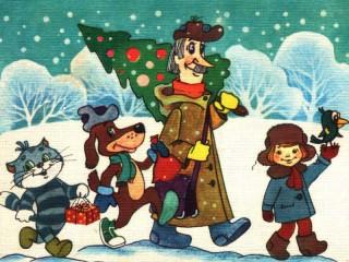 Собирать пазл Winter in Prostokvashino онлайн