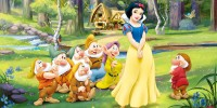 Собирать пазл Snow white and the dwarves онлайн